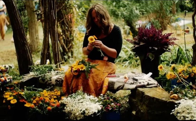Petra mit Blumen